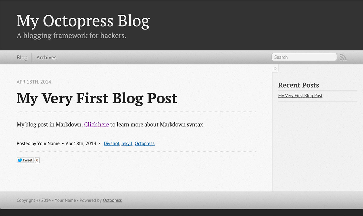 Octopress Blog