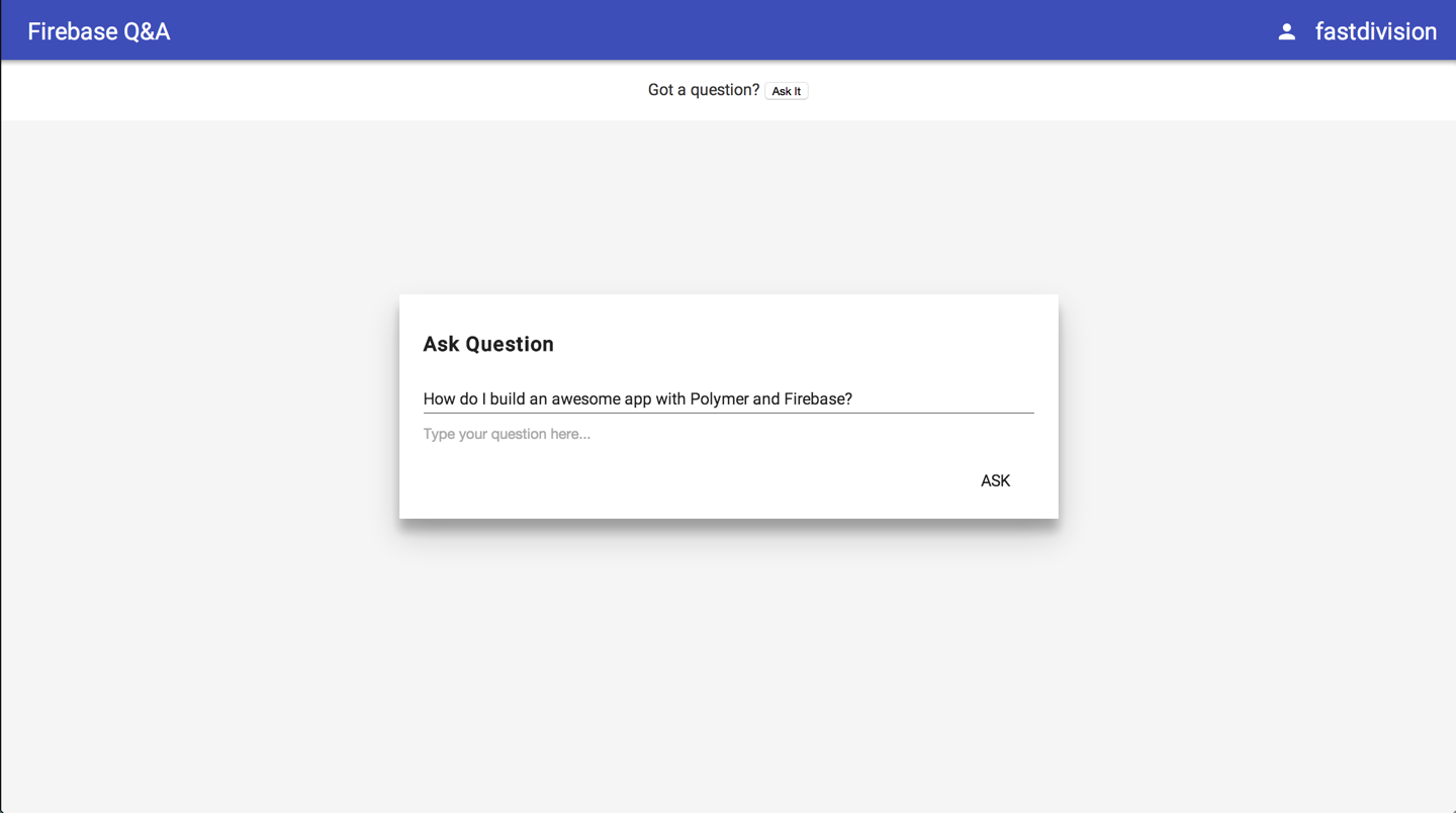 Ask Question Dialog